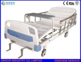 Cama de hospital doble manual de la función de la sala paciente del equipamiento médico de China