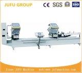 Máquina de estaca do CNC da Dobro-Cabeça do indicador do perfil de UPVC