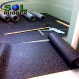 3мм тренажерный зал проскальзывания резинового валика пол коврик