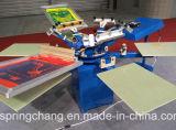 6 kleur 6 Machine van de Druk van het Scherm van /Fabric van de T-shirt van de Post de de Hand/Printer Spm650 van het Scherm