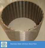 Aço inoxidável Fio Wedg Johnson Screen para a peneira inferior