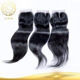 安い卸売100%未加工Remyのバージンの毛のまっすぐに自然なインドの人間のバージンの毛のよこ糸