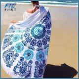 Prendere il sole intorno tovagliolo di yoga stampato Microfiber dei tovaglioli di spiaggia al nuovo grande