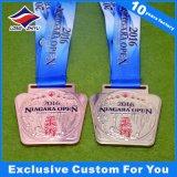 Centro transparente medalhas de metal com Novo Design