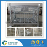 Armazenamento de depósito de contentores de malha de arame galvanizado no tipo de elevação