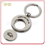 Promoção Gift Custom Logo Metal Trolley Coin Key Ring