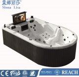 Monalisa luxuoso navio Shape hidromassagem jacuzzi com TV (M-3361)