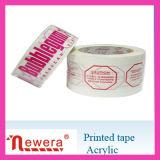 Cinta adhesiva impresa película del embalaje de BOPP para atar