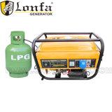 Portable 3kw LPG gasolina generador de gas natural 7CV