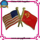 Металлический бейдж флага для Сувенирный подарок (m-EB05)