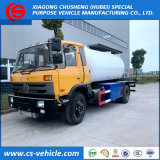 최신 판매 10cbm 가스 채우는 유조 트럭 LPG 자른 꼬리 트럭 자동차용 휘발유 역 트럭