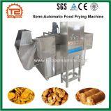 Alimento semiautomático que frita a máquina para o alimento fritado, frigideira do amendoim