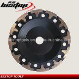 Roda T-Segmentada de moedura concreta do copo de 5 polegadas para ferramentas abrasivas
