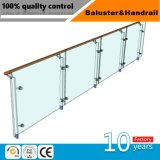 Qualitäts-Edelstahl-Balkon-Glasbalustrade, Glaszaun, halb Glasgeländer