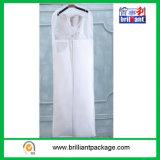 非衣装袋Woven/PEVAの物質的なウェディングドレスは白をカバーする
