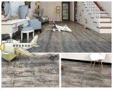 Couleur gris texturé lâche de luxe de jeter au sol en vinyle PVC étanche