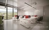 スクリーンのディバイダ(HF-YZL005C)が付いている現代オフィス用家具の線形形4のSeaterワークステーション表