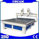 El husillo doble máquina de grabado CNC Router de madera MDF