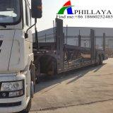 Eixos duplo Cilindro Hidráulico aluguer de veículo para Transporte de Reboque do Transportador