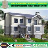 Moderne gut entworfene helle Stahlhäuser vorfabriziert/modulares vorfabrizierthaus
