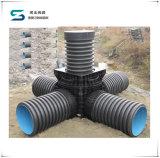 埋設ケーブルの保護のためのHDPEの二重壁の波形の管