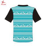 Healong personnalisé de style de gros et le tissu de polyester à l'impression personnalisée à manches courtes Tee-shirt