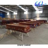 Cercueil et cercueil spéciaux d'acajou de luxe de Customed de modèle neuf