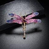 De nieuwe Broche van het Bergkristal van de Libel van het Email van de Juwelen van de Manier Dierlijke Kleurrijke