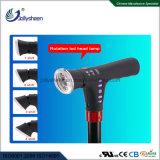 Fonction Muilt canne intelligente avec Radio+ MP3 Smart Bâton de marche avec 360deg lampe LED colorés et de rotation de quatre pattes Bases antipatinage