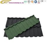 Matériaux de construction de l'asphalte de bardeaux de toiture en acier recouvert de carrelage en pierre