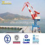 Port Shipyard Móvel Luffing Jib Crane para Levantamento
