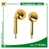 iPhone를 위한 상표 Name Headphone Luxury Gold Color Headphones Earphone 5 5s 5c 6 6 Plus Stereo Headset