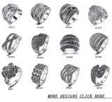 Anello del costume dell'argento dell'annata dell'anello di modo di Marcasite