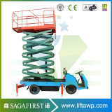 el vehículo hidráulico de los 6m a del 16m montado Scissor la plataforma de la elevación