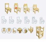 El plástico colorido embroma la silla, sillas de la sala de clase de los cabritos de Prechool
