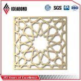 el panel compuesto de aluminio tallado CNC de la pantalla de 4m m Ideabond