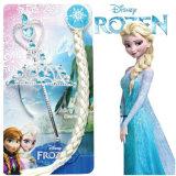 Fronzen Elsa Princessanimeの総合的なかつらのベージュ編みこみのポニーテールLbh0416