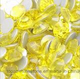 Todo el de las tallas del Citrine arte cristalino de cristal del clavo del Rhinestone de Flatback de los Rhinestones de Hotfix no (FB-ss16 citrine 3A)