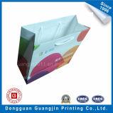 Gris Couleur personnalisée Papier kraft blanchie Shopping Bag