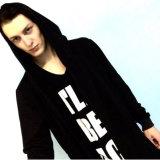 Высокого качества Hoodie людей пальто куртки Hoodie втулки черного длиннее Outwear пальто для человека