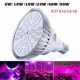 El LED crece la lámpara ligera de la planta de E27 6W 10W 18W 24W