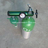 Выход колючки регулятора 0-15lpm кислорода Cga870 миниого размера медицинский стандартный