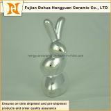 Figurinha de cerâmica Presente de Páscoa Escultura de porcelana Presente Decoração de casa Coelho