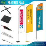 Feira de eventos Flying Swooper Beach Feather Bow Rectangle Teardrop Mochila Flag Banner