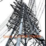 torre de acero de la transmisión de potencia del ángulo de 110kv-500 kilovoltio de la fábrica de la producción