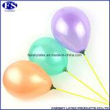 De ronde Ballon van het Latex van de Parel van de Vorm met de Aangepaste Druk van het Embleem