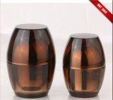 Pot de crème acrylique en forme d'oeuf d'ambre (EF-J08)