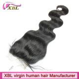 Chiusura brasiliana del merletto del Virgin candeggiata nodi dei capelli umani