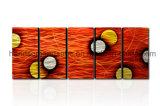 La décoration d'art mural métallique - Orange Dream (CHB60015022)