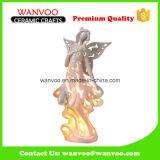 New Design Holiday Decoração de gesso Angel Candle Holder